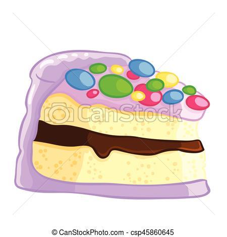Sponge Cake clipart Vector Cartoon chocolate of vanilla