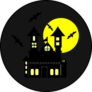 Haunted clipart moon #2