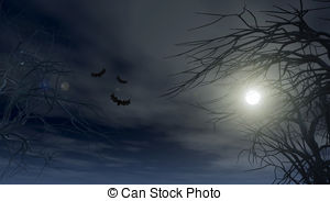 Spooky clipart background With Halloween  Clipart Spooky
