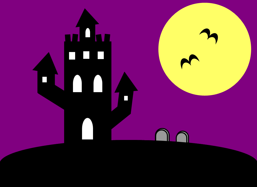 Spooky clipart background Spooky Moon Halloween Free Download