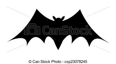 Bat clipart creepy halloween Shape Bat Vector EPS Halloween