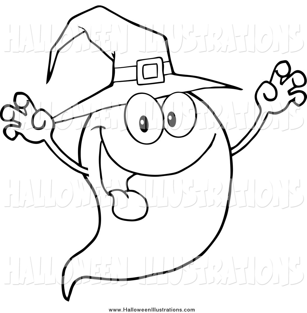 Spooky clipart black and white Free Color Halloween and Hat