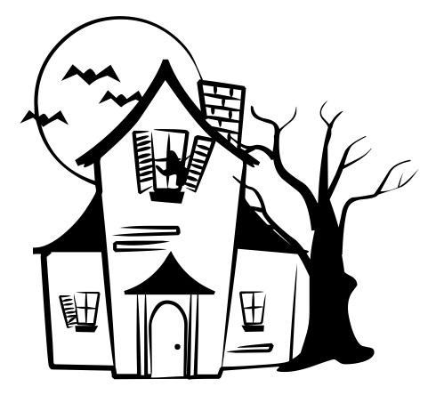 Spooky clipart black and white Gallery house And haunted House