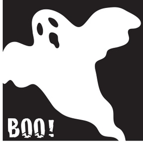 Spooky clipart black and white Panda  Clipart White Ghost