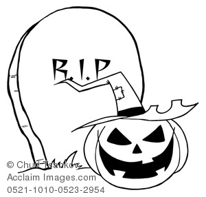 Tombstone clipart spooky Clipart O Jack Image White