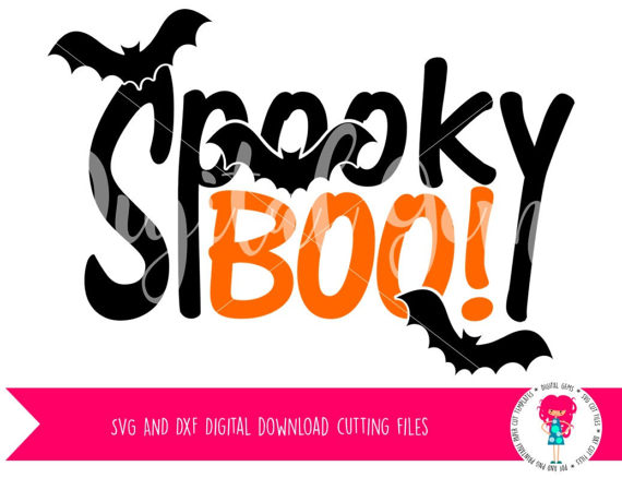 Spooky clipart boo Files Cameo Spooky Files DXF