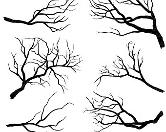 Spooky clipart branch Clipart Sh002 art Download Silhouettes