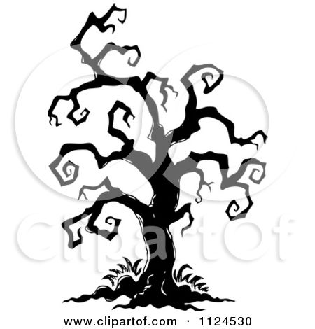 Spooky clipart branch And Sketched Halloween on Of