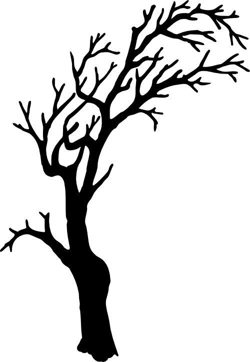 Spooky clipart branch Silhouette spooky Halloween Pinterest is