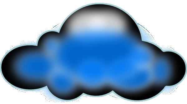 Spooky clipart cloud Clker Clip vector Cloud free