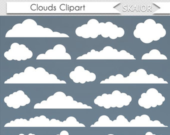 Spooky clipart cloud Vector Art White Clip Clipart