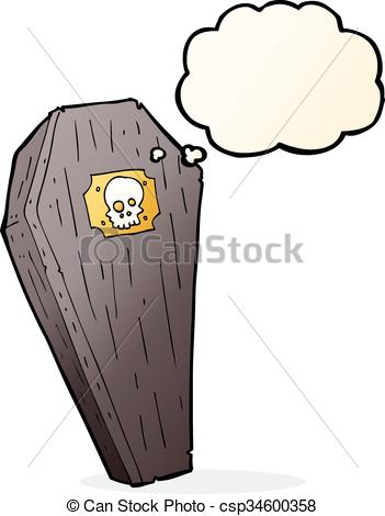Coffin clipart spooky Spooky spooky thought with cartoon