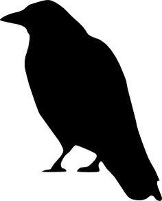 Drawn raven silhouette Domain  art royalty public