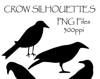 Crow clipart silhouette Graphics Clip Crow Crow Birds