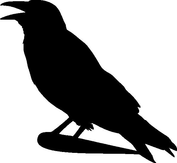 Dead clipart raven  vector clip Silhouette art