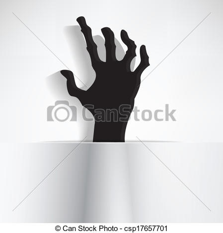 Spooky clipart finger Hand Scary Vector curled