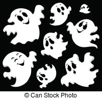 Spooky clipart ghost face And 167 royalty 73 illustration
