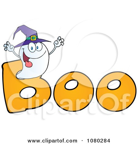 Ghostly clipart yellow Wearing collection A hat Clipart