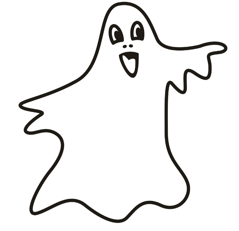 Spooky clipart gost Clip The Coloring : Spooky