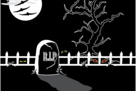 Tombstone clipart creepy Art UK Graveyard with Cemetery