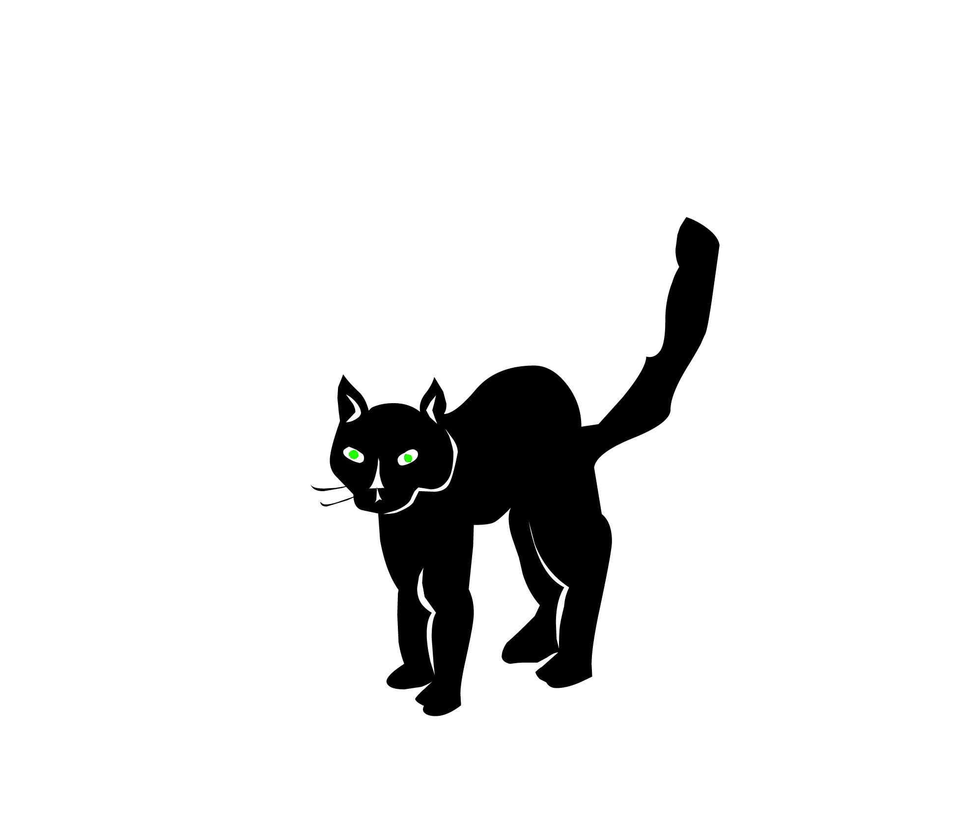 Spooky clipart halloween black cat And art black Cartoon #19202
