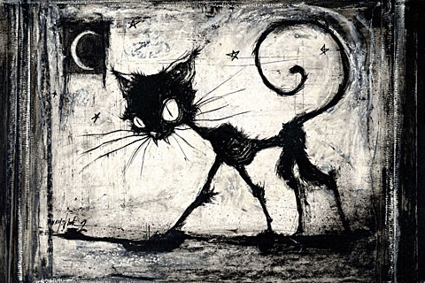 Spooky clipart halloween black cat Desktop a Band Halloween cat