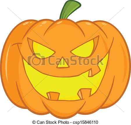 Drawn pumpkin spooky Csp15846110 Scary Clip Halloween Halloween