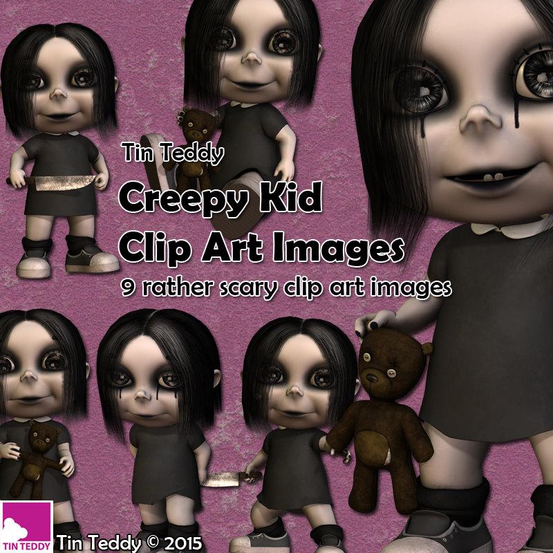 Spooky clipart halloween kid Art 12 digital Clip Creepy