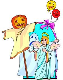 Spooky clipart halloween kid Of gallery a of pumpkin