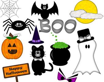 Spooky clipart halloween kid Clipart digital Clipart Halloween Panda