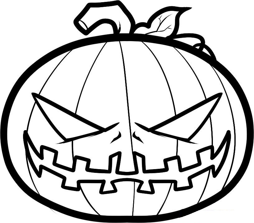 Drawn pumpkin coloring page halloween Free Art Free Coloring Pages
