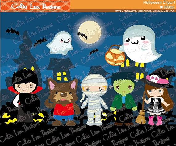 Zombie clipart werewolf Digital  Mummy Spooky clipart
