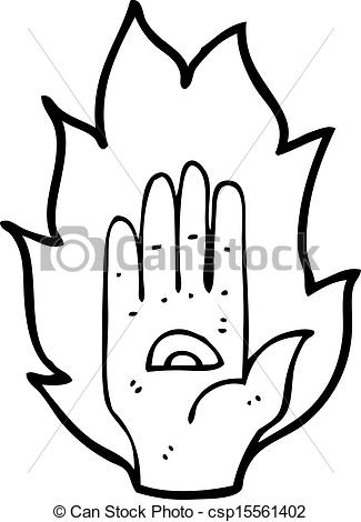 Spooky clipart hand Symbol Vector Vector of hand