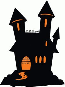 Spooky clipart haunted castle Online Cards this I &