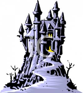 Spooky clipart haunted castle Clipart Image a Up A