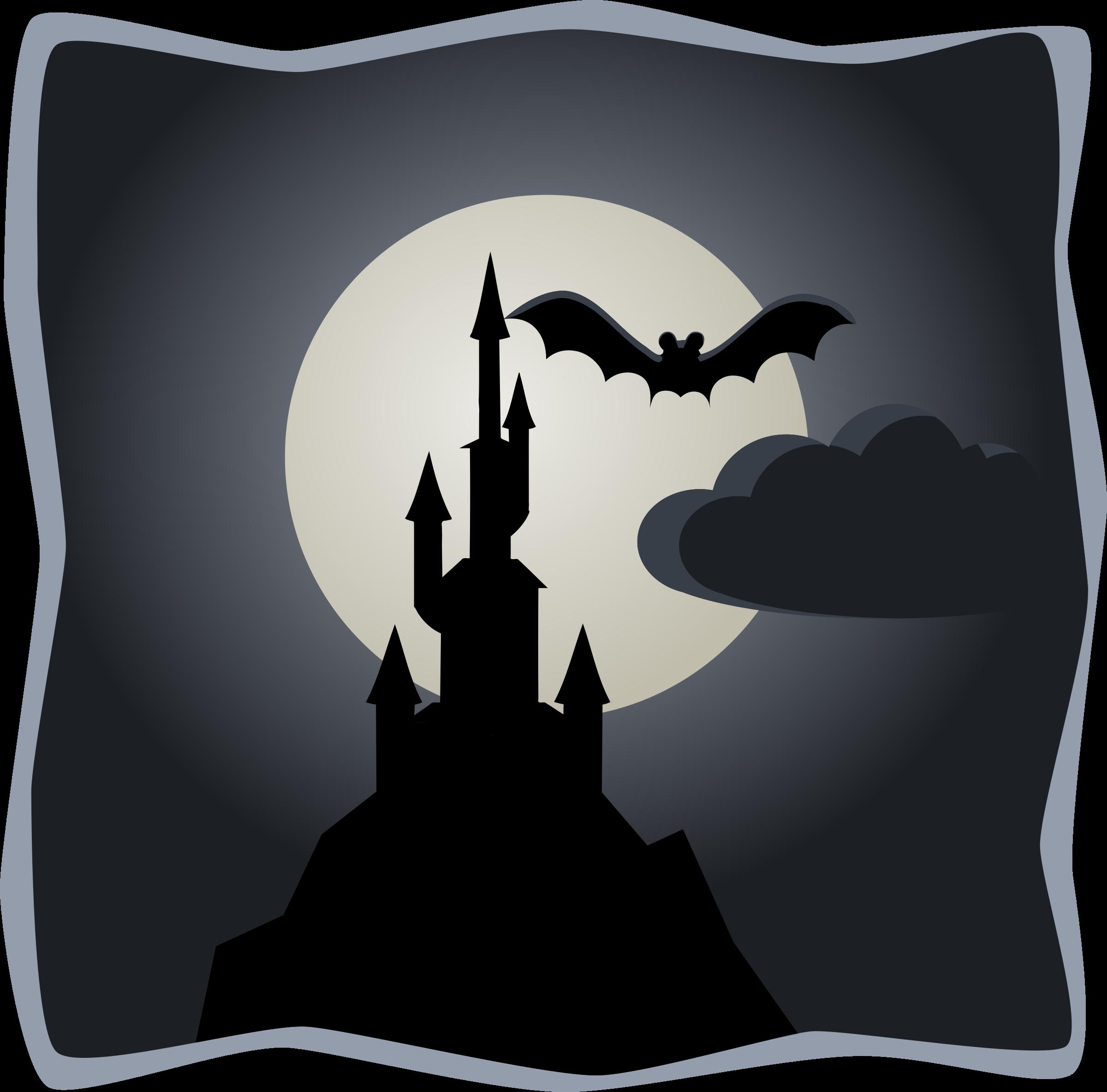 Spooky clipart moon In in moon castle castle
