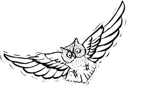 Owlet clipart creepy Halloween  Free Owl art
