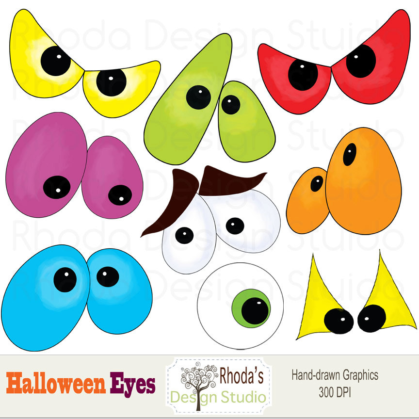 Witch clipart eye Graphics Halloween images Digital Clip