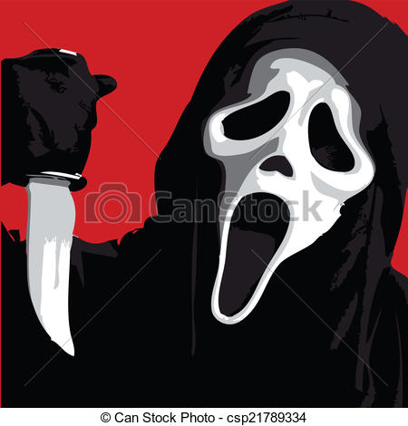 Scary clipart scream #15
