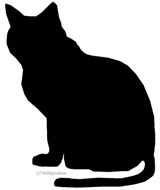 Shadows clipart black cat For Spooky Silhouettes ClipArt ClipArt