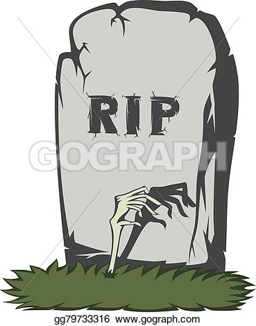 Spooky clipart tombstone With Illustration from Art gray