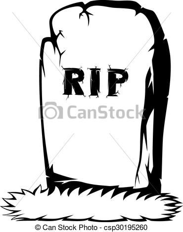 Spooky clipart tombstone Vector  Clip a of