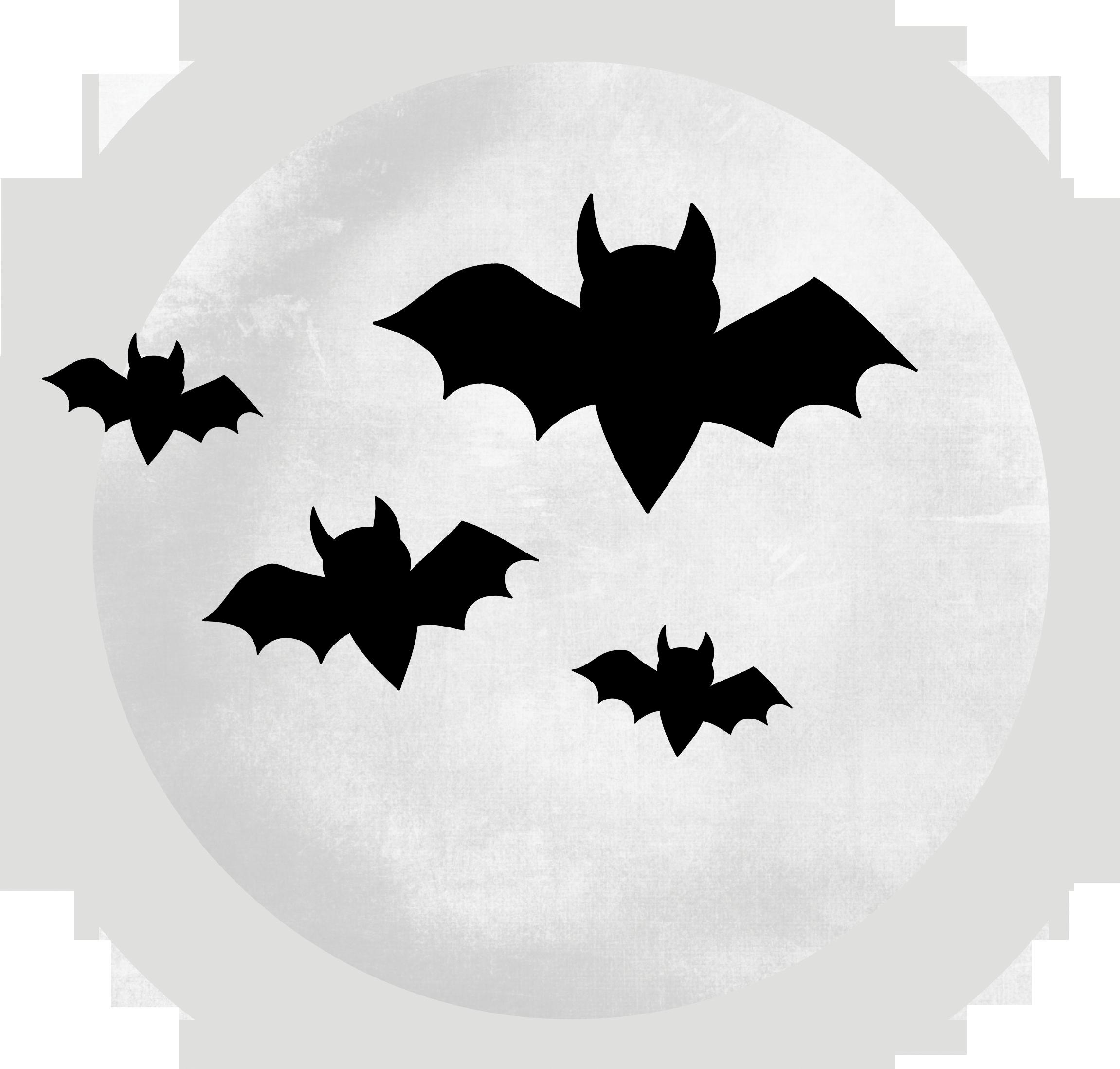 Spooky clipart transparent Bats Transparent Moon Clipart