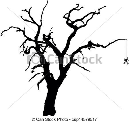 Spooky clipart tree Vector  Clip of with