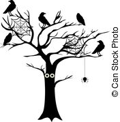 Spooky clipart tree With of Vector tree Clip