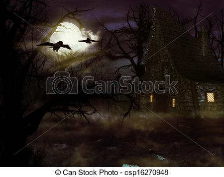 Spooky clipart witch house In spooky the in forest