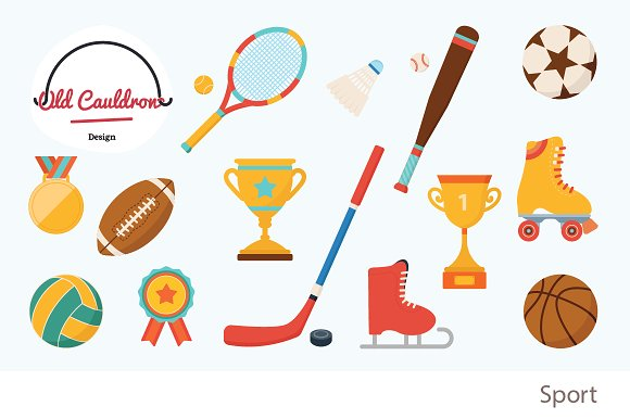 Sport clipart CL007  Creative Sport graphics