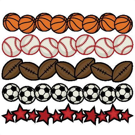 Baseball clipart border / cut sport sports cricut