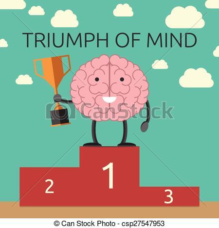 Sport clipart brain Character  Triumph mind winner