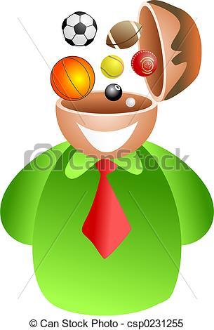 Sport clipart brain Sporting Stock man  of